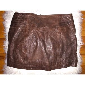 Abercrombie & Fitch Leather Skirt